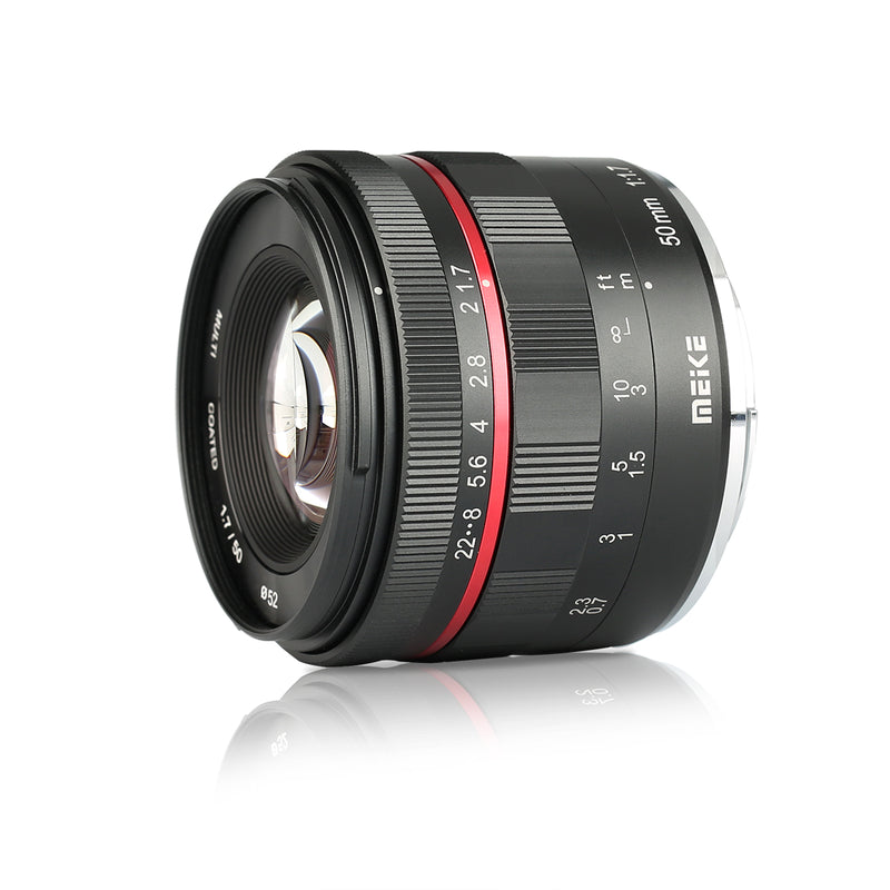 Meike 50mm F/1.7 Full frame manual lens Fit for Sony/Canon-RF/Nikon-Z/Fujifilm/Canon-EF/Nikon-N1