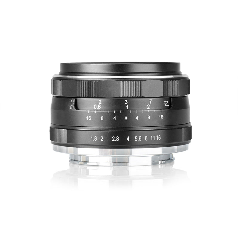 MEIKE MK-25MM F/1.8 Wide-angle Mirrorless Camera Lens Fit for Sony Fujifilm Nikon 1 Canon EFM M4/3