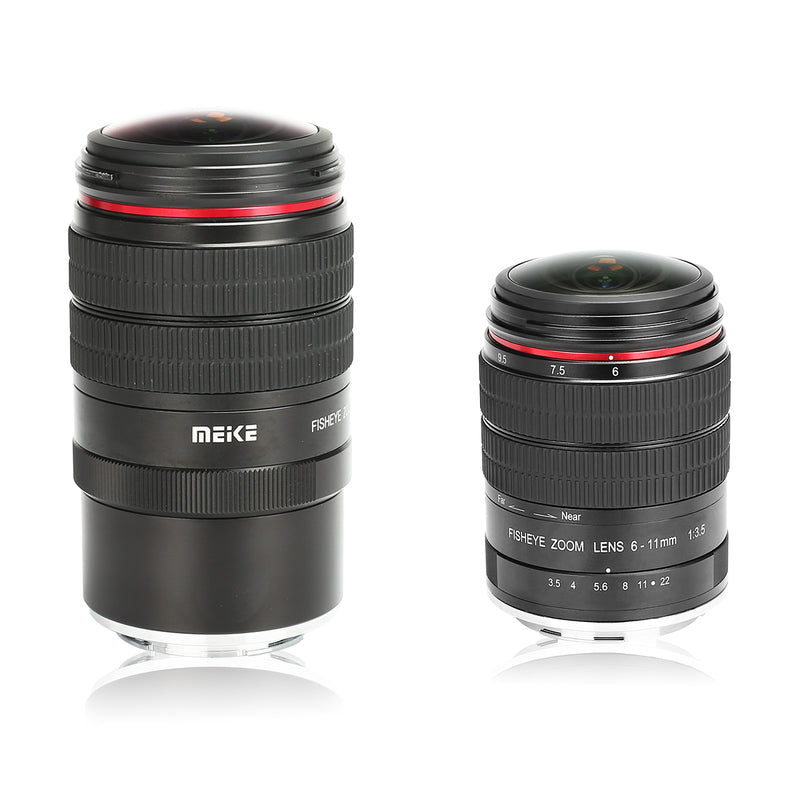 Meike MK-6-11mm F3.5 Fish eye Lens Fit for Canon-EF/Canon-EFM/Nikon-F/Sony/Fuji/M43