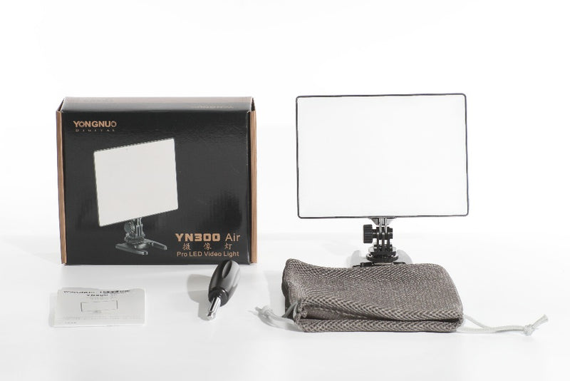 Dslr Yongnuo Yn300 Air Ultra Thin Cri 95 Led Video Light Panel 3200 5500k Color Temperature 2000lm For Canon Nikon Sony Cameras