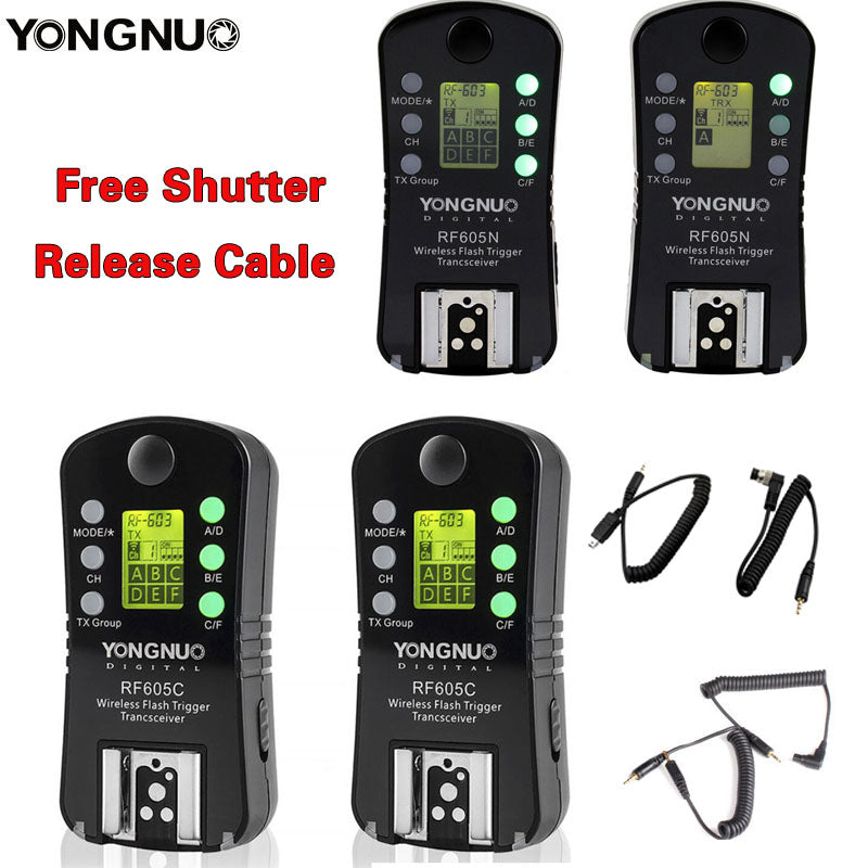 YONGNUO RF-605 RF605 Wireless Flash Trigger with LCD For Nikon Canon compatible RF603II YN560IV YN685 YN660 YN560III
