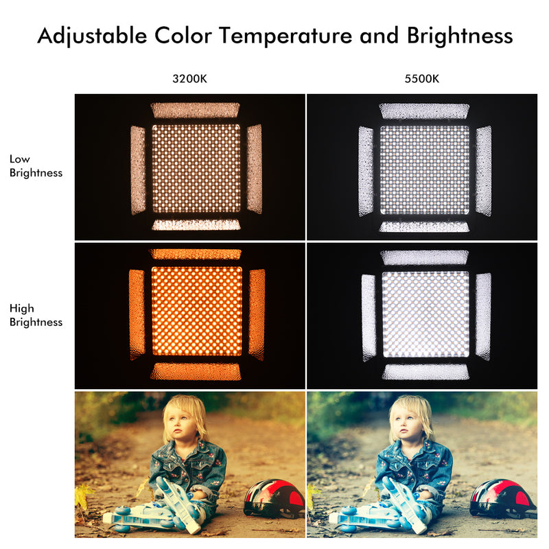 YONGNUO YN860 3200K-5500K Bi-Color Temperature Pro LED Video Light Fill Light CRI 95+ w/CT Filters Video Light