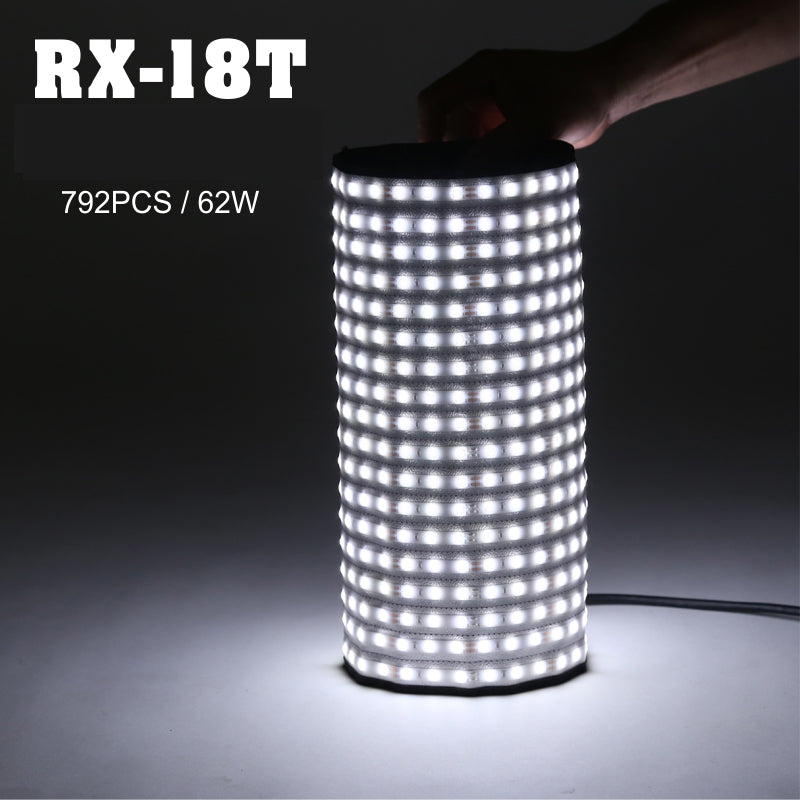 Falconeyes Portable 62W Roll-flex LED MAT 504pcs LEDs Waterproof LED Flexible Photo Light RX-18T