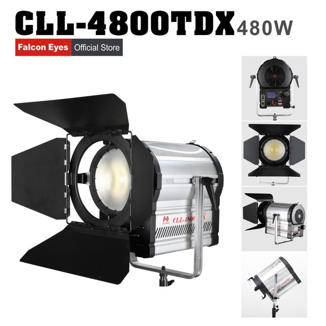 Falconeyes 480W Fresnel LED Light Dimmable Video Light DMX512 system with LCD&touch panel Continuous lighting CLL-4800TDX