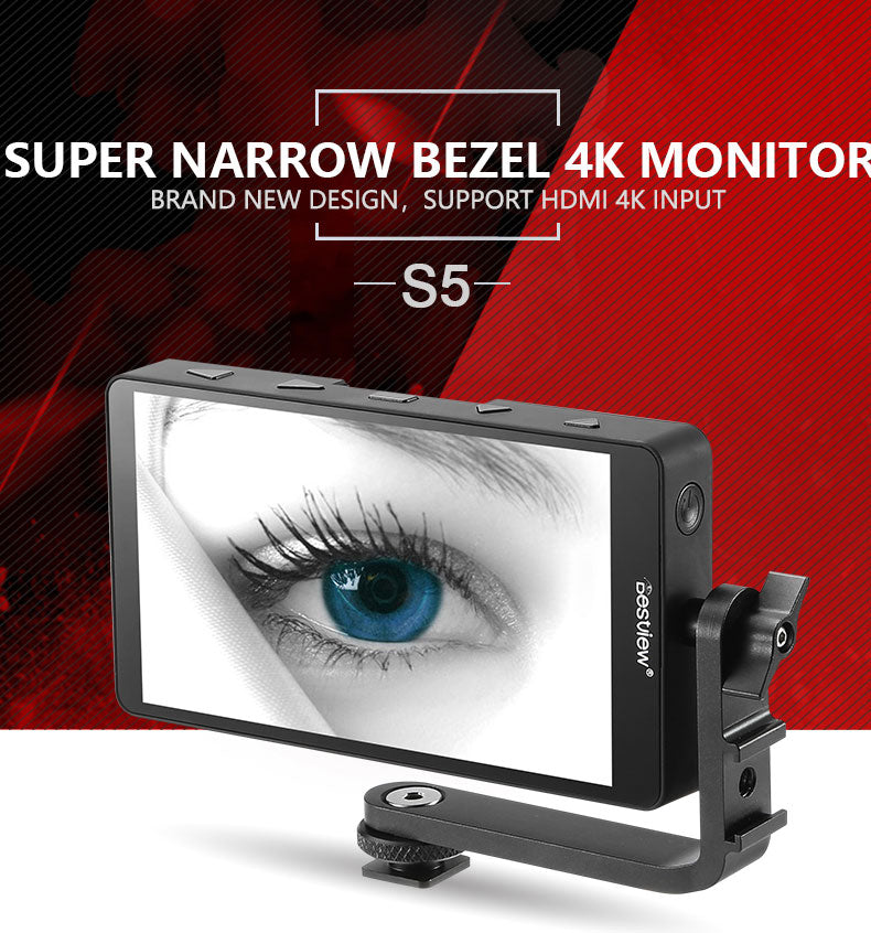Bestview S5 4K HDMI full HD monitor for A7 & 5D camera shooting 5.5 inch stylishly thin screen with 1920*1080