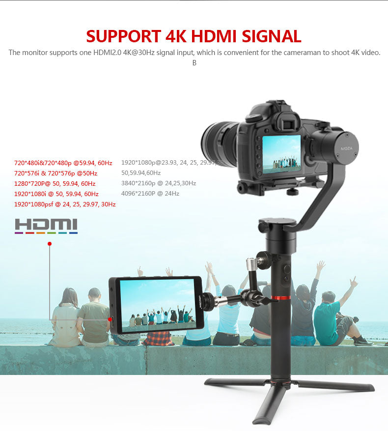 Desview S5 4K HDMI full HD monitor for A7 & 5D camera shooting 5.5 inch stylishly thin screen with 1920*1080