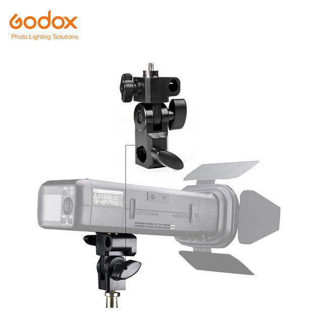 "Godox AD-E E Holder with 1/4"" Screw On The Top to Hold Godox AD200 Flash Speedlite"