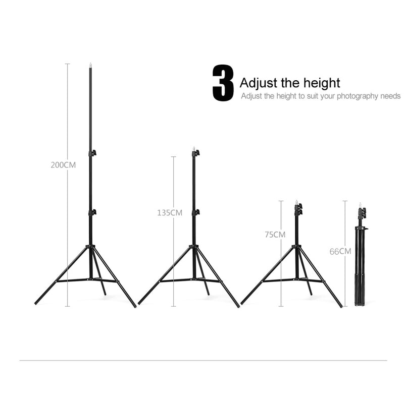 Godox 302 2m Light Stand with 1/4 Screw Head Tripod for Studio Photo Vedio Flash Lighting 200cm