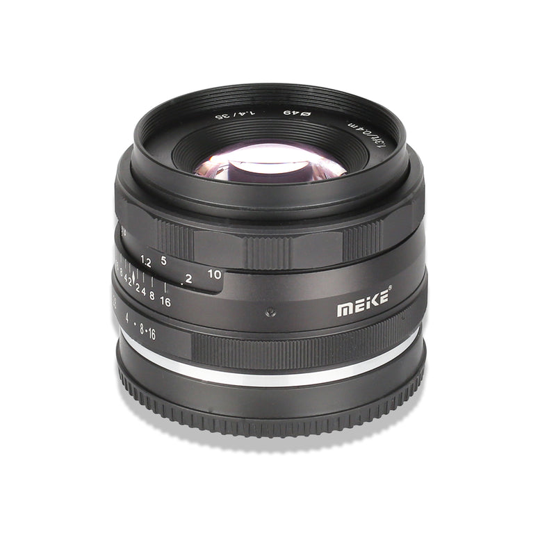 Meike MK-35mm F1.4 Standard-focal Fixed Focus Lens Fit for Canon/Nikon/Sony/Fuji/Olympus/Panasonic