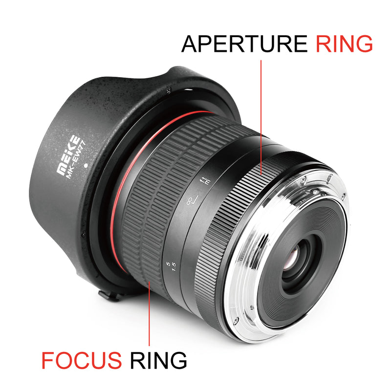Meike MK-8mm f/3.5 Ultra Wide Angle Manual Focus Rectangle Fisheye Lens Fit for Canon Nikon