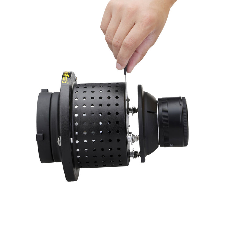 NiceFoto SN-29 Professional Optical Spot Bowens Mount Replaceable Mount Snoot for LED Light Flash