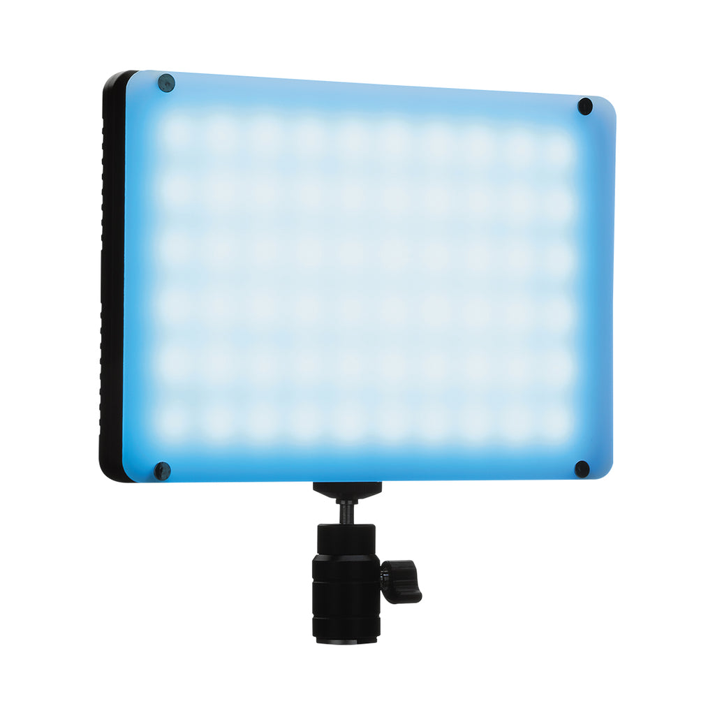 NiceFoto TC-368 RGBW Mini LED Video Light Full Color 2800K--9900K Voice Control Dual Power Supply
