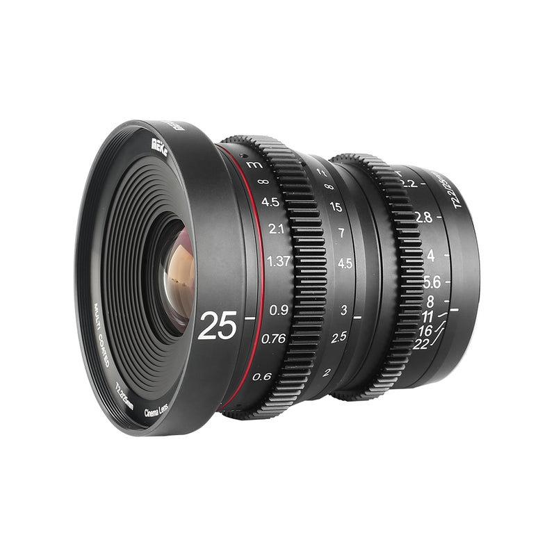 Meike 25mm T2.2 Manual Focus Cinema lens Fit for Sony Fujifilm M4/3