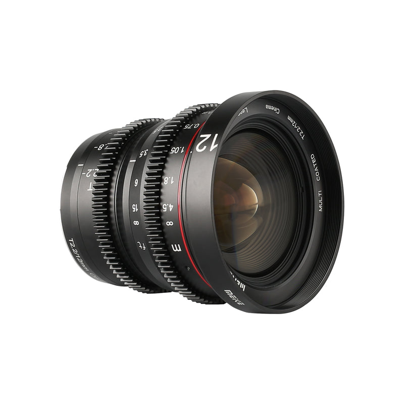 Meike 12mm T2.2 Manual Focus Cinema Lens Fit for M4/3 Min(OLYMPUS/Panasonic Lumix)