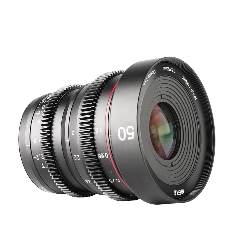 Meike 50mm T2.2 Manual Focus Cinema Lens Fit for Sony Fujifilm M4/3