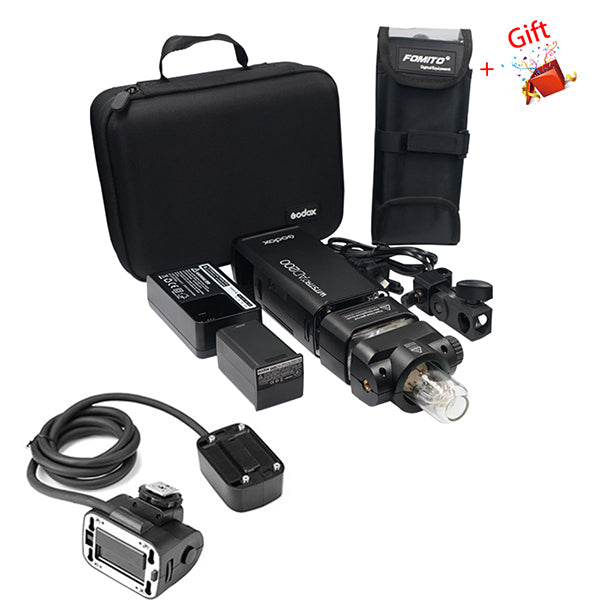 Godox AD200 Kit 200Ws 2.4G TTL Pocket Flash 1/8000 HSS With Fomito BS200 Portable Pouch EC200