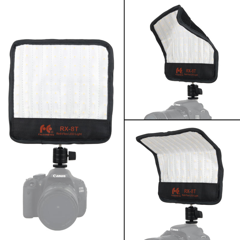 Falcon Eyes RX-8T Foldable Roll-Flex Flexible Cloth Waterproof 5600K LED Video Light