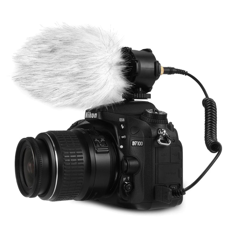 BOYA BY-PVM50 Professional Capacitive Stereo Microphone for Canon Nikon Digital Camera DV Camcorder DC with Windshield