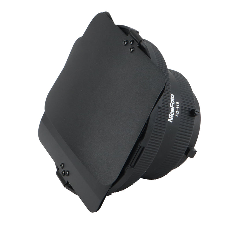 NiceFoto FD-110 Fresnel Light Focusing Adapter Focus Zoom with Barndoor for Bowens Mount Video Light
