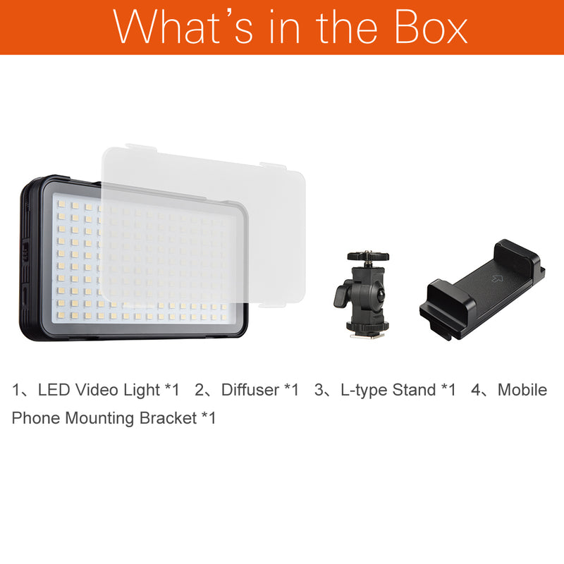 Godox LEDM150 5600K Mobile Phone LED Video Light Bright panel with In-built Battery Rechargeable Battery (USB Power Charge)