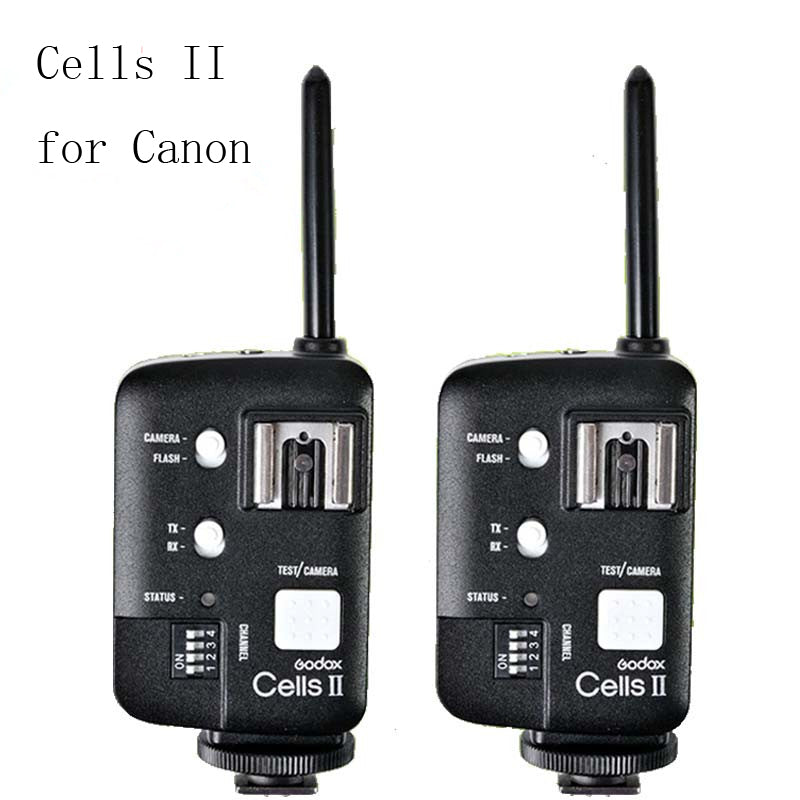 Godox Cells II Cells II-C 1/8000s Wireless Speedlite Flash Trigger Transceiver Kit For Canon 6D 7D 5D2 5D3 60D 70D 650D