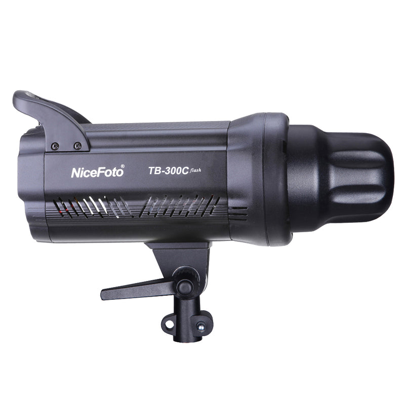NiceFoto TB-300C 300W GN55 Monolight Strobe Photography Studio Flash with Lamp Head