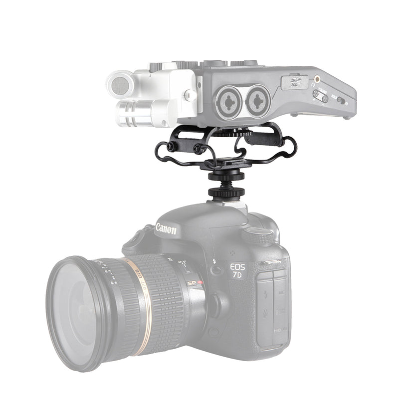 BOYA BY-C10 Universal Microphone and Portable Recorder Shock Mount for such as for Zoom H1/H4n/H5/H6 for Sony PCM-M10