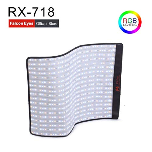 Falcon Eyes RX-718 100W RGB LED Roll-Flex Portable Video Light Adjustable Film Light Special-Effects