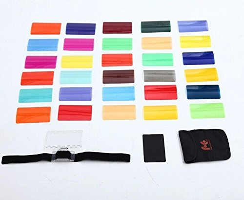 Fomito Color Gel Kit Filter 30ps w/ Gels-band & Reflector for Camera Flash - FOMITO.SHOP