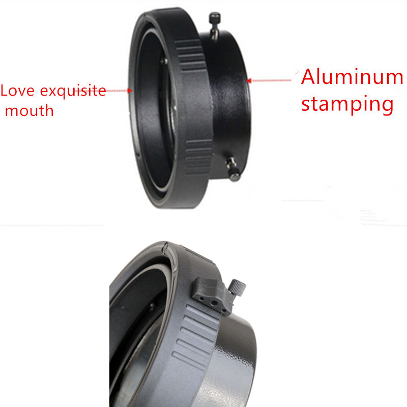 NiceFoto SN-20 Mini Mount to Elinchrom Mount Interchangeable Ring Adapter for Mini Mount Studio Flash