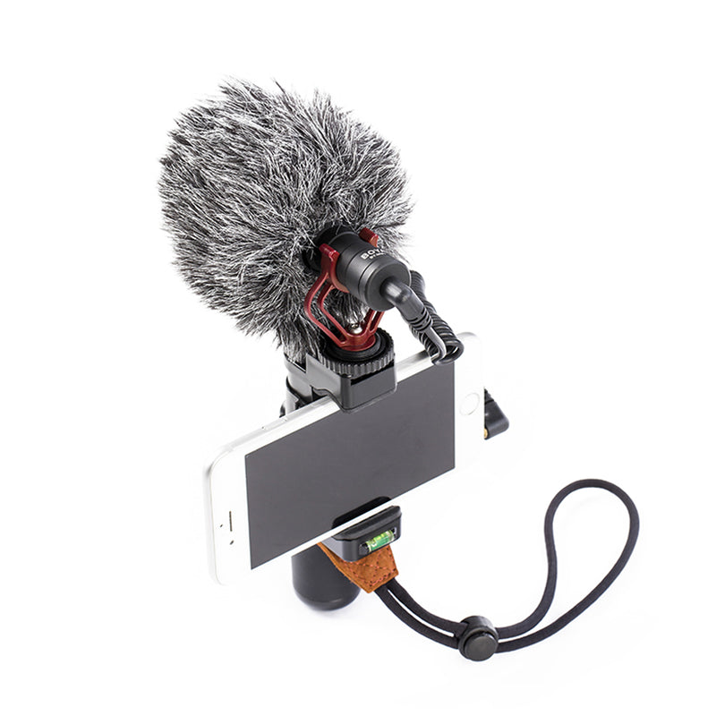 BOYA BY-MM1 Cardioid Microphone No battery required   Professional furry windshield included Rugged metal construction