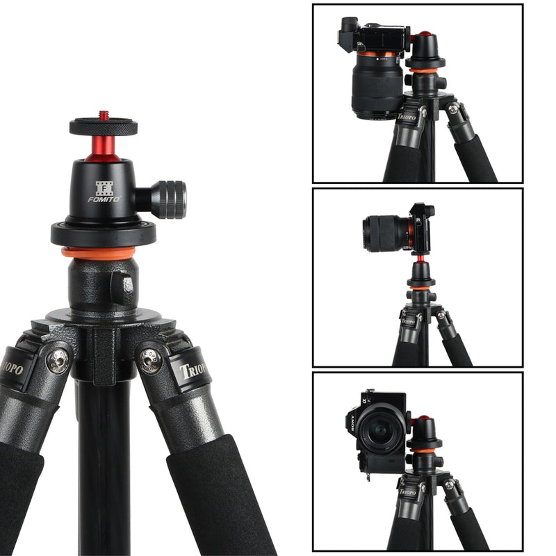 "Fomito Q1 Tripod Mini Ball Head 360° Pan with 1/4"" Screw for Camera Compact DSLR Phone Light Stand"
