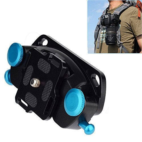 Fomito K0 Blue Metal Camera Waist Spider Belt Holster 1/4″ Screw Quick Strap Buckle