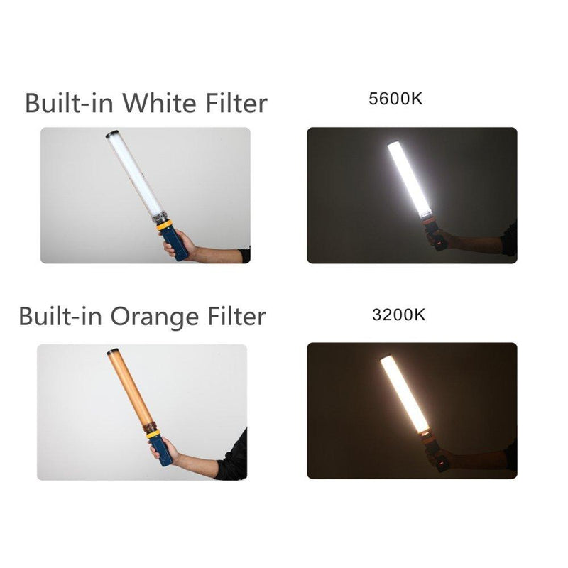 FalconEyes Saber 3 LED Photo Video Continuous Light 15W 3200/5600K High t Handheld LED Light Stick - FOMITO.SHOP