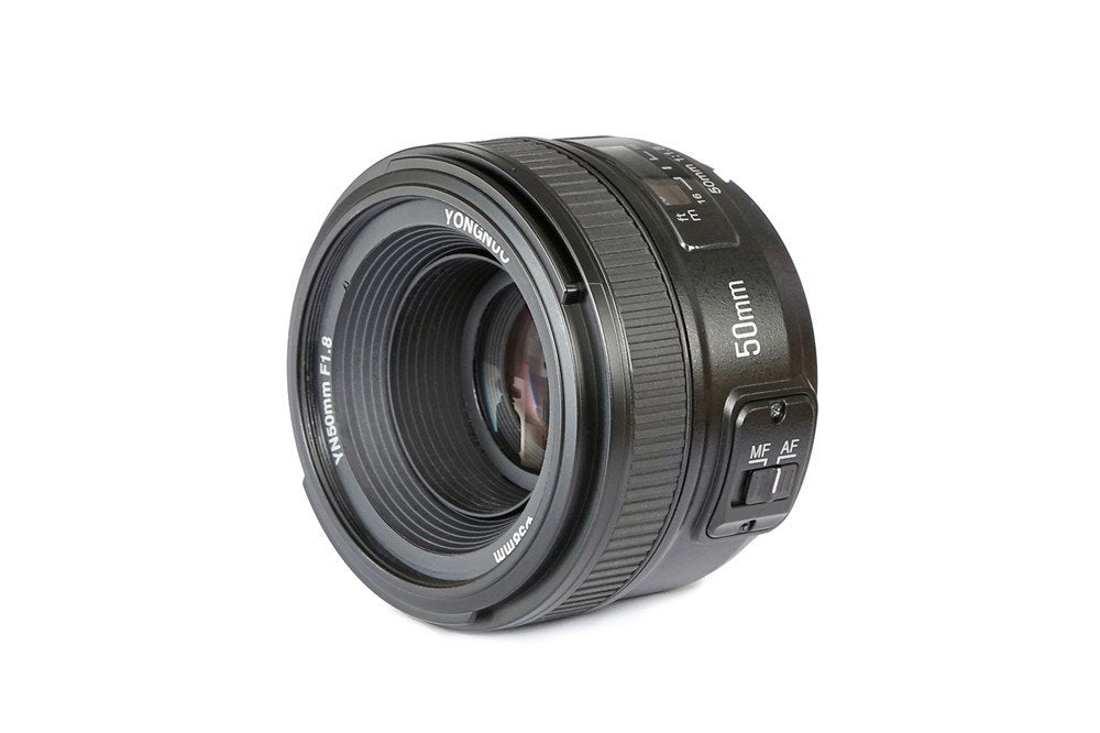 YONGNUO YN50mm F1.8N Standard Prime Lens Large Aperture Auto Manual Focus AF MF for Nikon DSLR Cameras - FOMITO.SHOP
