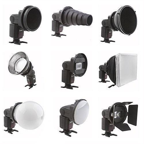 FalconEyes 9in1 Flash Speedlite Accessories Kit SGA-K9 for Canon Nikon Sony Yongnuo Metz - FOMITO.SHOP