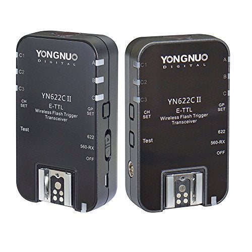 YONGNUO YN622C II Wireless ETTL Flash Trigger with High-speed Sync HSS 1/8000s for Canon camera - FOMITO.SHOP