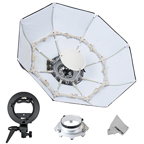 "Fomito Foldable Beauty Dish Softbox with Bowens Mount Inner White (Diameter: 39""/ 100cm)"