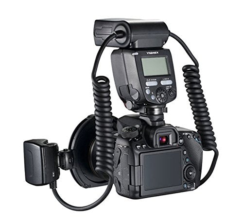 YONGNUO YN-24EX Macro Ring Flash Speedlite with 2 Flash Head 4 Adapter Rings for Canon, with MicroFiber Cloth - FOMITO.SHOP