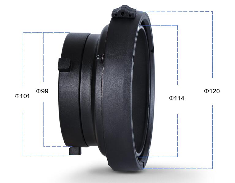 NiceFoto SN-14 Bowens to Elinchrom Interchangeable Mount Ring Adapter for Bowens Flash Strobe Photography Studio
