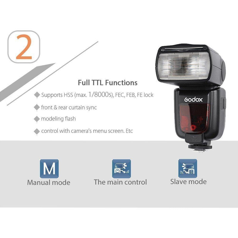 Godox TTL HSS TT685N Camera Flash High Speed 1/8000 GN60 for Nikon - FOMITO.SHOP