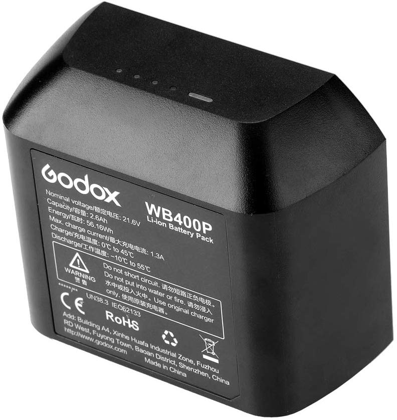 Godox WB400P 21.6 V 2600mAh Li-ion Battery Replacement for Witstro AD400Pro Flash Head