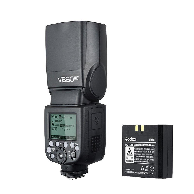 Godox V860IIC  2.4G Wireless E-TTL II Li-on Battery Camera Flash for Canon Camera - FOMITO.SHOP
