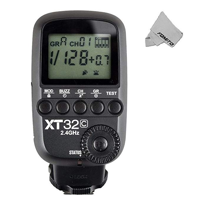 Godox XT32-C Wirelss Power Contral Flash Trigger Manual Radio Transmitter HSS with 2.4GHz Godox X System for Canon EOS 1DX 5DIII 5D 6D 7D 60D 650D 1100D