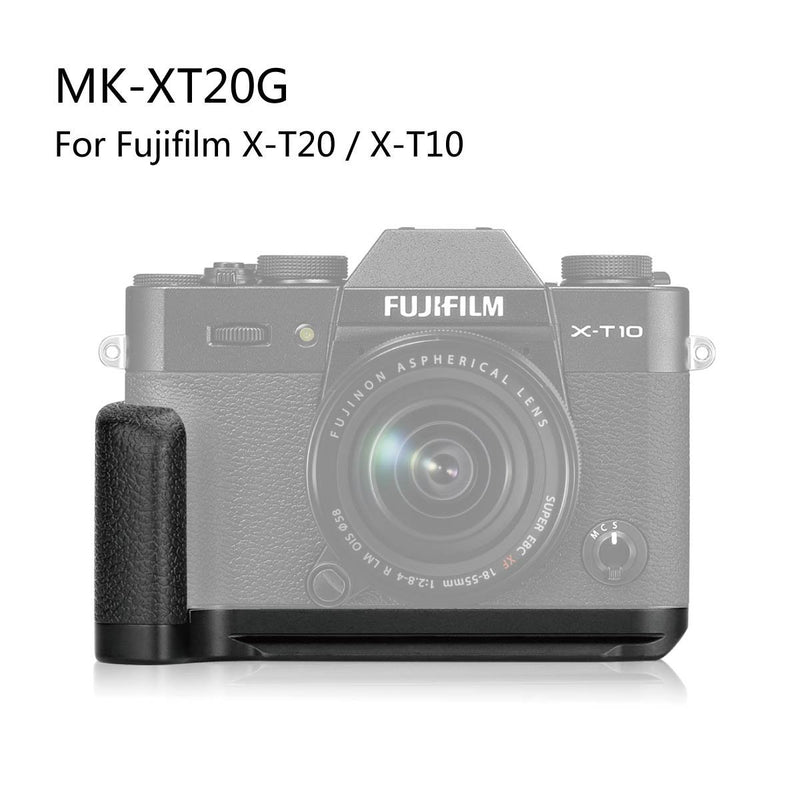Meike XT20G Aluminum Alloy Hand Grip Quick Release Plate L Bracket for Fujifilm X-T20 X-T10 - FOMITO.SHOP