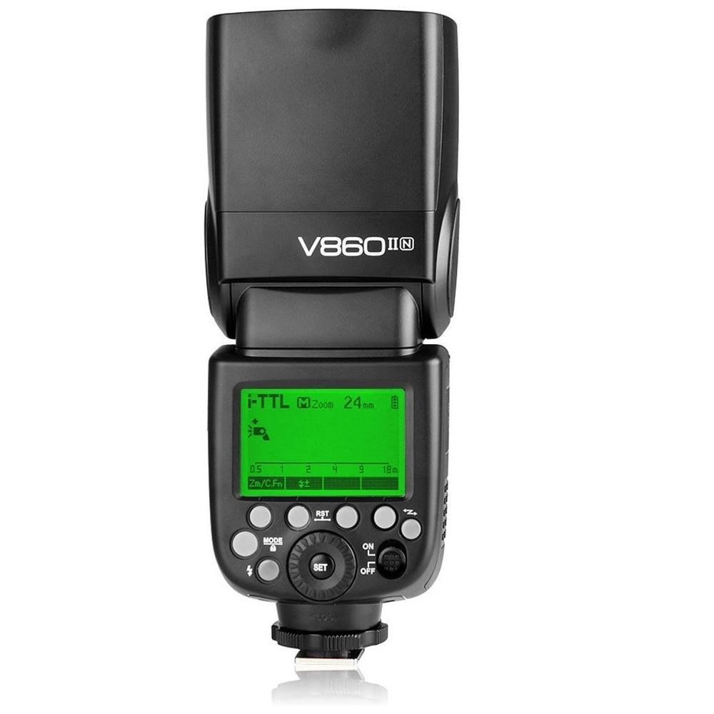 Godox V860IIN 2.4G GN60 I-TTL HSS 1/8000s Li-ion Battery Camera Flash for Nikon camera - FOMITO.SHOP