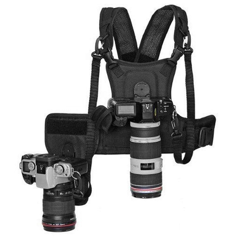 Fomito Multi Camera Carrying Chest Harness System Vest with Side Holster - FOMITO.SHOP