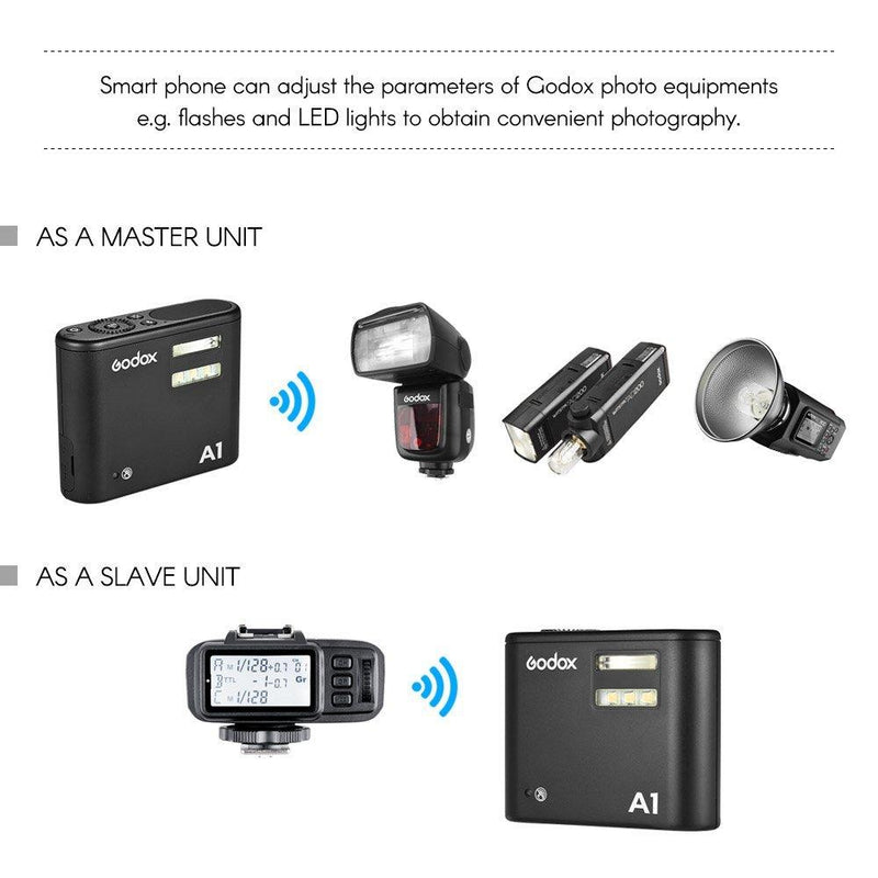 Godox A1 Flash built-in Godox 2.4G wireless X system and lithium battery. - FOMITO.SHOP