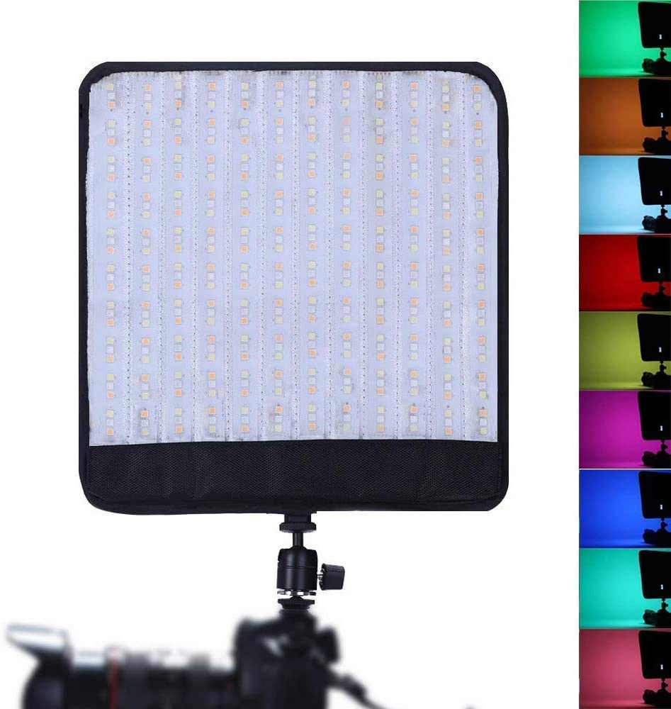 Falconeyes RX-T12 On Camera Foldable Roll-Flex RGB LED Light Kit Mounting Photography Lighting