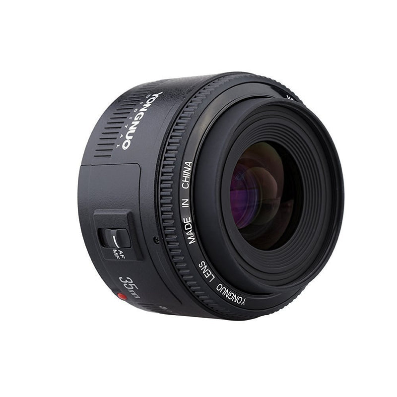Yongnuo YN35mm F2 Lens 1:2 AF / MF Wide-Angle Fixed/Prime Auto Focus Lens For Canon EF Mount EOS Camera - FOMITO.SHOP
